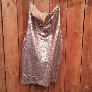 🆕️Strapless Sequin Dress Size Medium